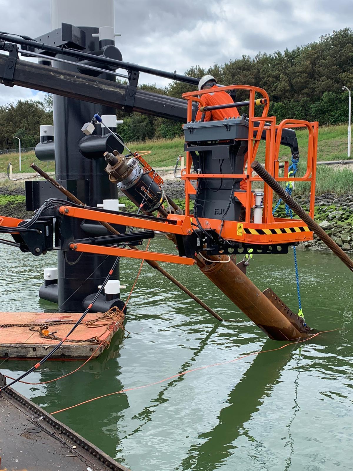 Testen ankers onder water